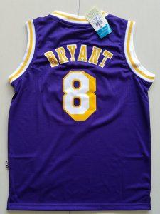 2017 Los Angeles Lakers 8 Kobe Bryant purple kids jerseys