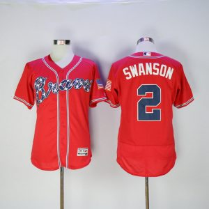 2017 MLB FLEXBASE Atlanta Braves 2 Swanson red jerseys2