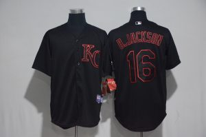 2017 MLB Kansas City Royals 16 B.Jackson Black Classic Jerseys