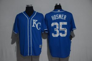 2017 MLB Kansas City Royals 35 Hosmer Blue Fashion Edition Jerseys