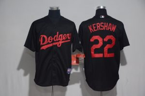 2017 MLB Los Angeles Dodgers 22 Kershaw Black Classic Jerseys