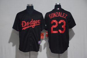 2017 MLB Los Angeles Dodgers 23 Gonzalez Black Classic Jerseys
