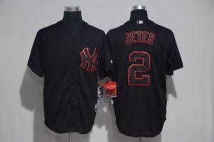 2017 MLB New York Yankees 2 Jeter Black Classic Jerseys
