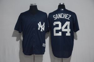 2017 MLB New York Yankees 24 Sanchez Blue Jerseys