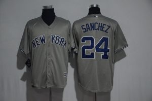 2017 MLB New York Yankees 24 Sanchez Grey Jerseys