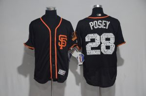 2017 MLB San Francisco Giants 28 Posey Black Spring Training Flex Base Jersey
