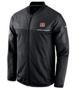 2017 Men Cincinnati Bengals Nike Black Elite Hybrid Performance Jacket