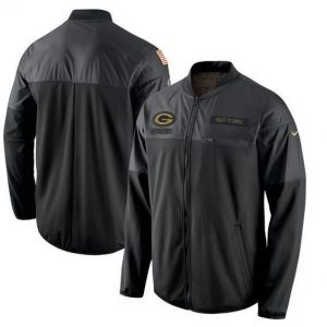2017 Men Green Bay Packers Nike Black Salute to Service Hybrid Performance Jacket