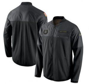 2017 Men Indianapolis Colts Nike Black Salute to Service Hybrid Performance Jacket