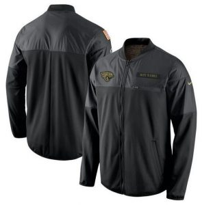 2017 Men Jacksonville Jaguars Nike Black Salute to Service Hybrid Performance Jacket