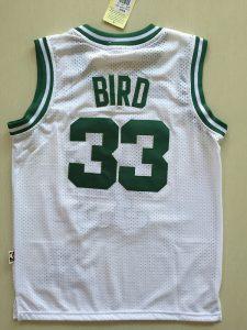 2017 NBA Boston Celtics 33 Larry Bird white kids jerseys