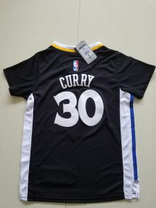 2017 NBA Golden State Warriors 30 curry black kids jerseys