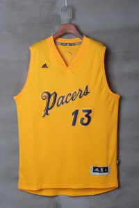 2017 NBA Indlana Pacers 13 Paul George yellow jerseys