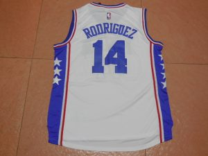 2017 NBA Philadelphia 76ers 14 Rodriguez white jerseys