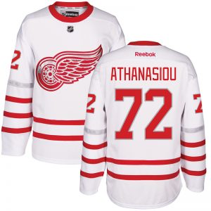 2017 NHL Detroit Red Wings 72 Athanasiou White Jerseys