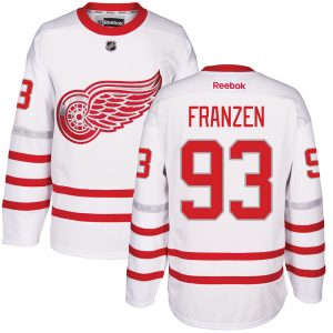 2017 NHL Detroit Red Wings 93 Franzen White Jerseys
