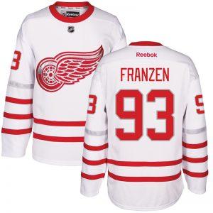 2017 NHL Detroit Red Wings 93 Franzen White Jerseys