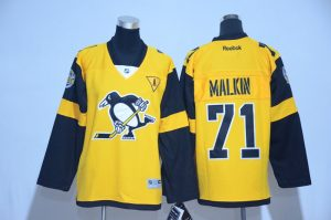 2017 NHL Pittsburgh Penguins 71 Malkin Yellow kids Jerseys