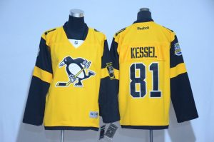 2017 NHL Pittsburgh Penguins 81 Kessel Yellow kids Jerseys