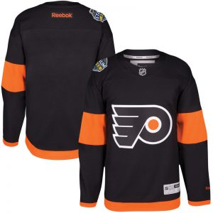 Men Philadelphia Flyers Reebok Black 2017 Stadium Series Premier Jersey