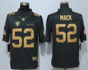 NEW Nike Dallas Raiders 52 Mack Gold Anthracite Salute To Service Limited Jersey