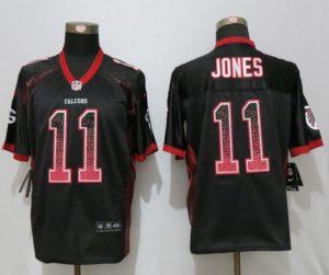New Nike Atlanta Falcons 11 Jones Drift Fashion Black Elite Jerseys