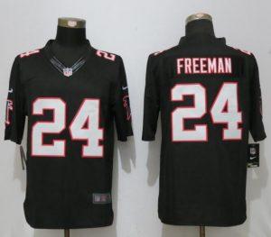 New Nike Atlanta Falcons 24 Freeman Black Limited Jersey