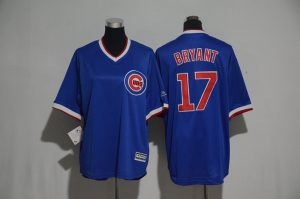 Youth 2017 MLB Chicago Cubs 17 Bryant Blue Jerseys