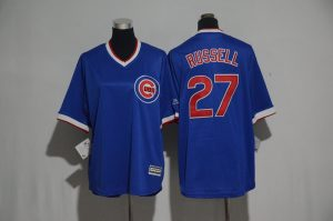 Youth 2017 MLB Chicago Cubs 27 Russell Blue Jerseys