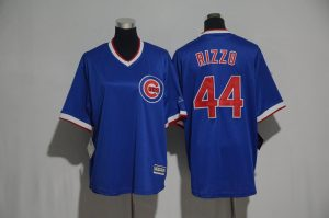 Youth 2017 MLB Chicago Cubs 44 Rizzo Blue Jerseys