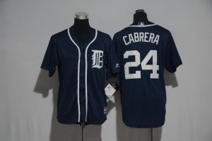Youth 2017 MLB Detroit Tigers 24 Cabrera Blue Jerseys