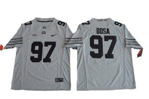 2016 Ohio State Buckeyes 97 Joey Bosa College Football Jersey Gridion Grey II