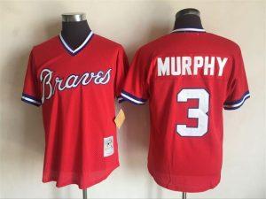 2017 MLB Atlanta Braves 3 Dale Murphy Red Throwback Jerseys