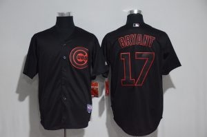 2017 MLB Chicago Cubs 17 Bryant black jerseys
