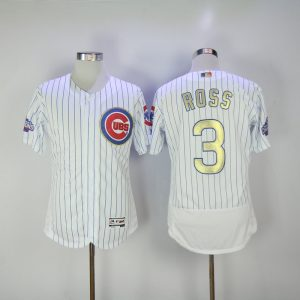 2017 MLB Chicago Cubs 3 Ross CUBS White Gold Program Elite Jersey