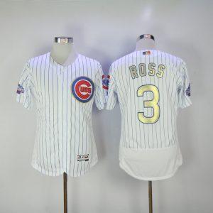 2017 MLB Chicago Cubs 3 Ross CUBS White Gold Program Elite Jersey