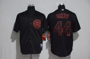 2017 MLB Chicago Cubs 44 Rizzo black jerseys