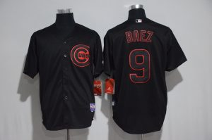 2017 MLB Chicago Cubs 9 Baez black jerseys