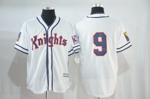 2017 MLB Chicago Cubs 9 Knights white jerseys