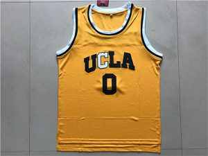 2017 UCLA Bruins 0 Westbrook Yellow College Basketball Authentic Jersey