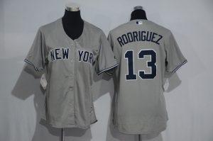 Womens 2017 MLB New York Yankees 13 Rodriguez Grey Jerseys